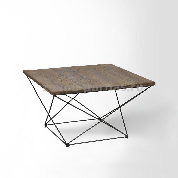журнальный столик в лофт стиле из дерева и металла цена и фото