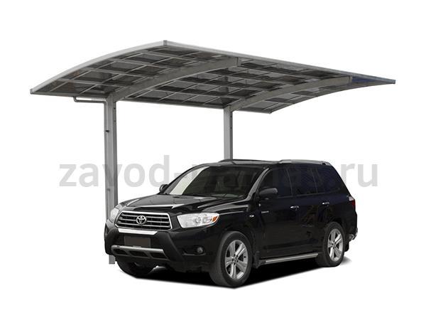 Простой и удобный навес из поликарбоната для автомобиля