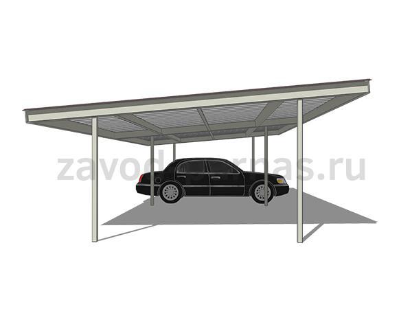 Навес из поликарбоната и металла для автомобиля