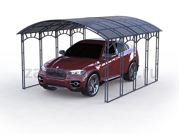 Эффектный и комфортный навес из поликарбоната для авто