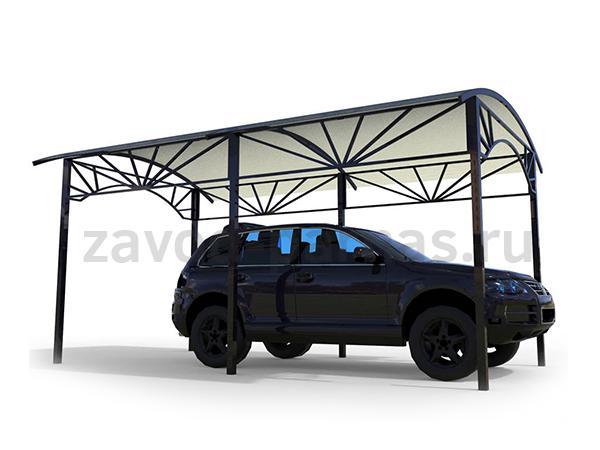 Дачный навес из поликарбоната для одной машины