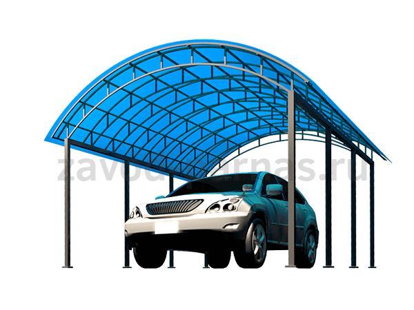 Простой и качественный навес из поликарбоната для авто