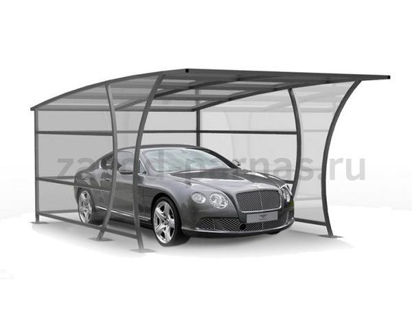 Красивый навес из поликарбоната для вашей машины