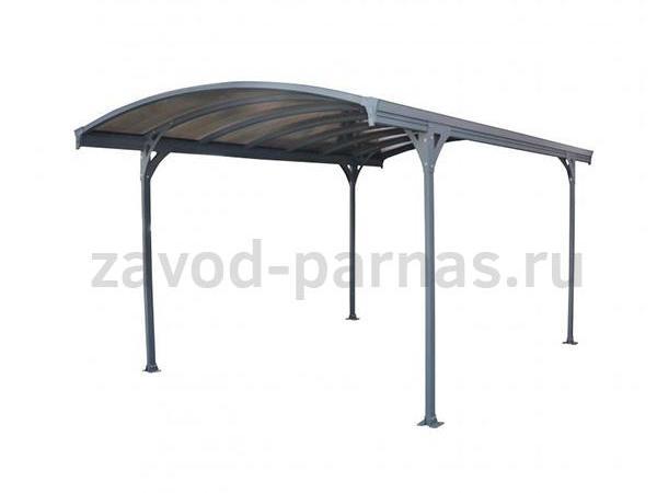 Арочный навес для двора - металл и поликарбонат
