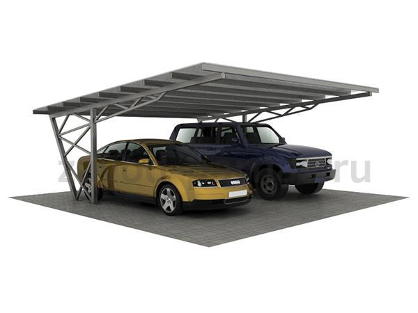 Недорогой и удобный навес из поликарбоната для автомобиля