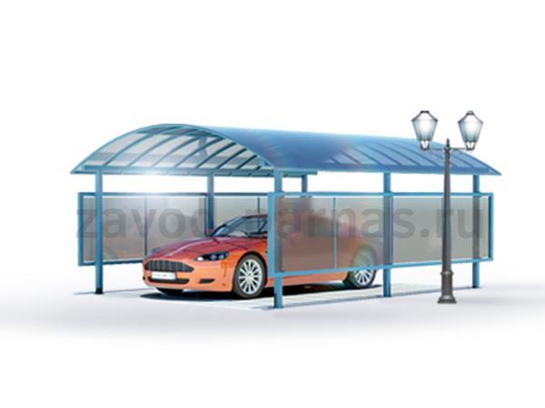 Современный и удобный навес из поликарбоната для авто