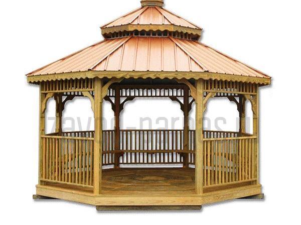Деревянная беседка для загородного дома или дачи