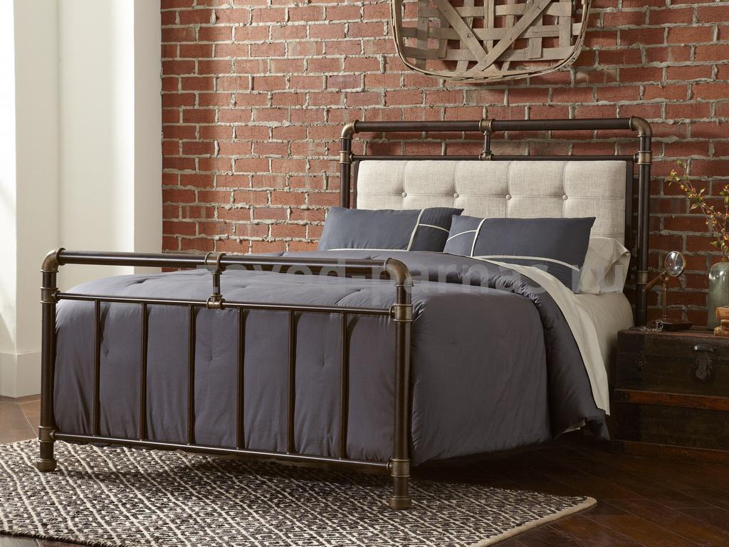 Кровать в лофт стиле металлический с деревом