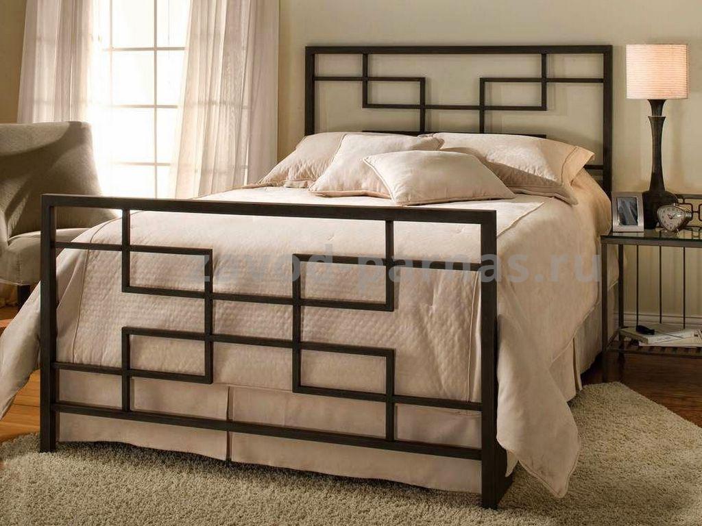 Кровать в стиле лофт дерево и металл