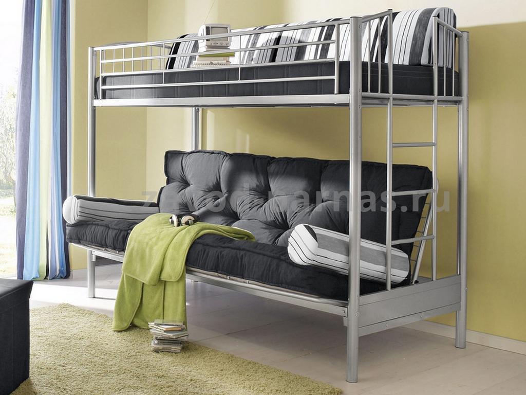 Кровать в лофт стиле дерево и металл