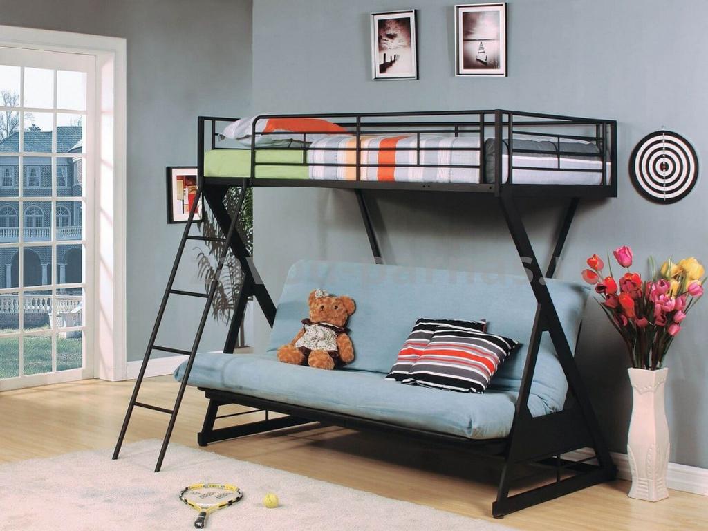 Кроватка в стиле лофт дерево и металл