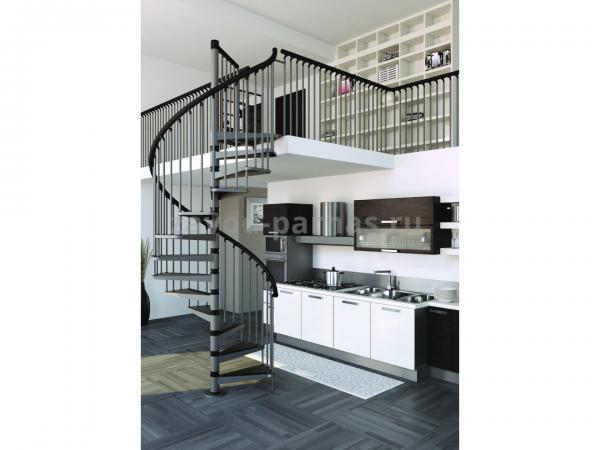 Эстетичная лестница винтовая на второй этаж