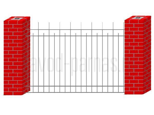 Металлический сварной забор - пример 2