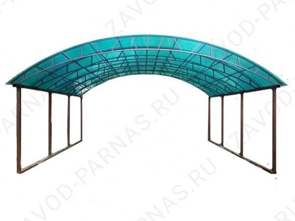 Большой навес из поликарбоната - размер 10 х 5 м