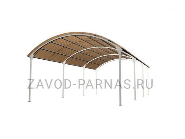 Металлический навес для дачи или загородного дома - 6,3 х 3,5 м