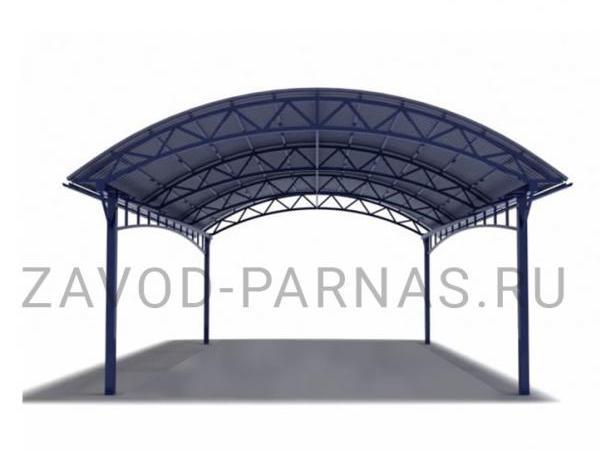 Навес из поликарбоната для кафе или двора - 6,3 х 4,5 м