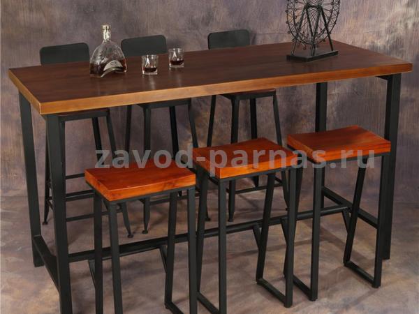 Барный столик в стиле лофт металл плюс дерево