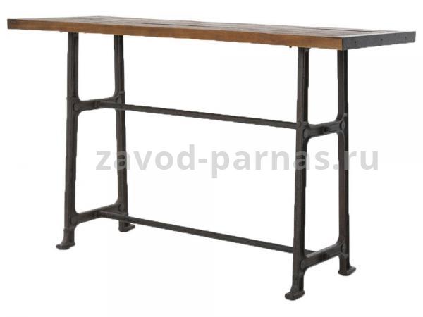 Барный стол в лофт стиле металлический с деревом