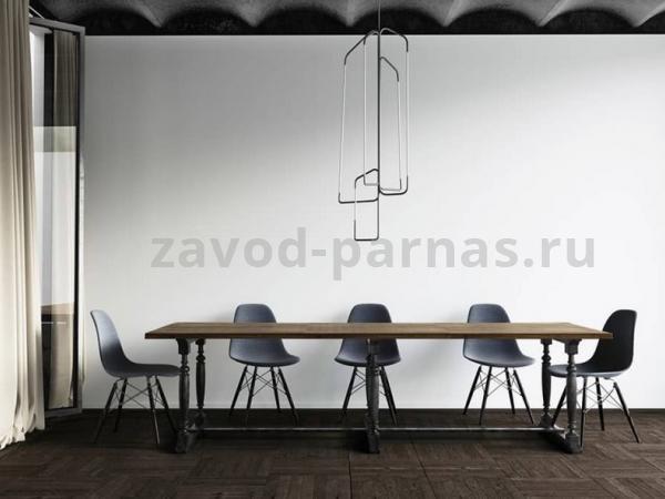 Деревянный столик в лофт стиле на металлическом каркасе