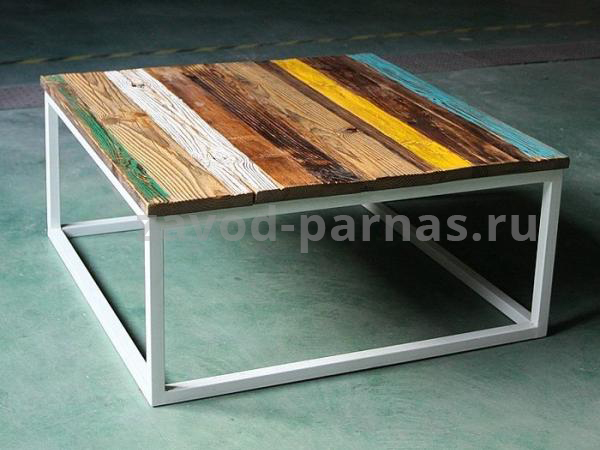 Журнальный столик в лофт стиле дерево и металл