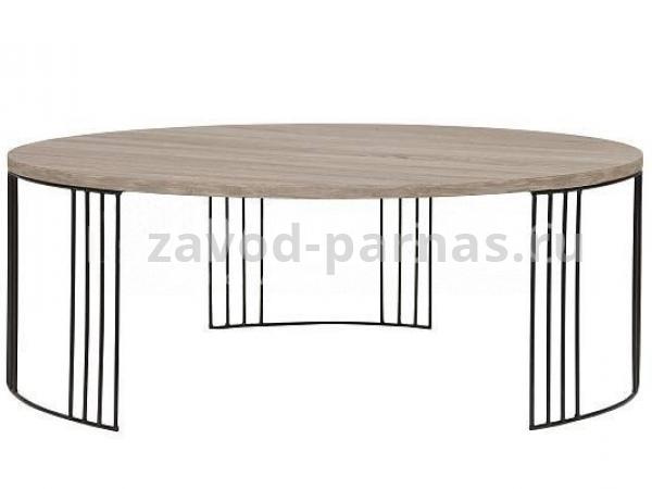 Журнальный стол в лофт стиле из металла и дерева
