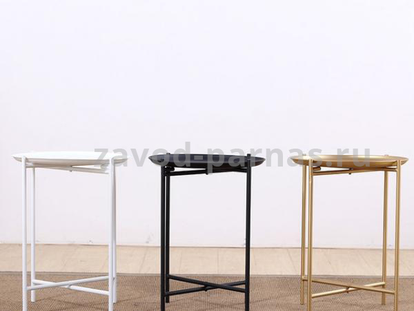 Журнальный столик лофт дерево и металл