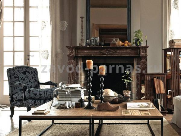 Журнальный стол лофт дерево и металл