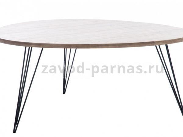 Журнальный стол в стиле лофт дерево и металл