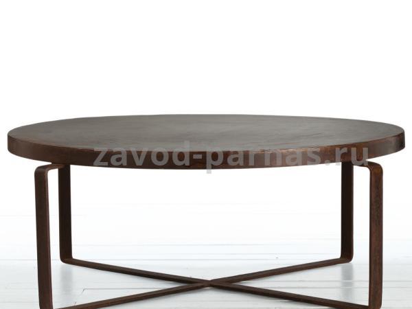 Круглый столик в лофт стиле из металла и дерева