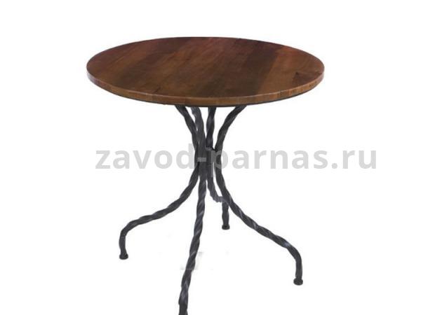 Круглый столик в лофт стиле дерево и металл