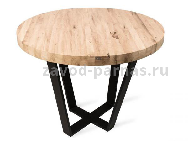 Круглый стол в лофт стиле из металла и дерева