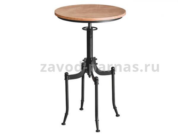Круглый стол в стиле лофт металл плюс дерево