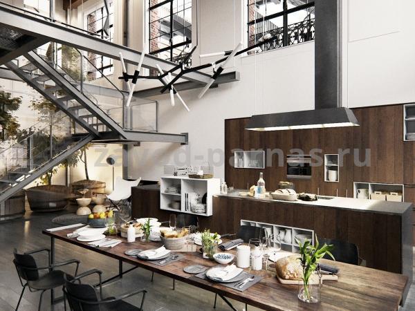 Кухонный столик в лофт стиле дерево и металл