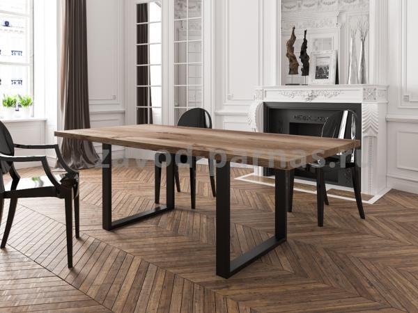 Кухонный стол в лофт стиле из дерева и металла