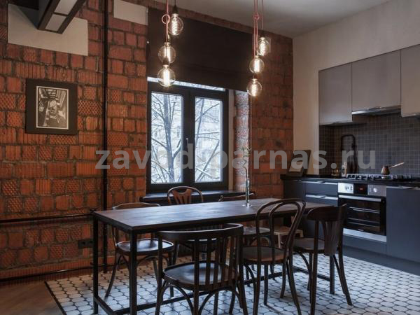 Кухонный столик лофт из металла и дерева