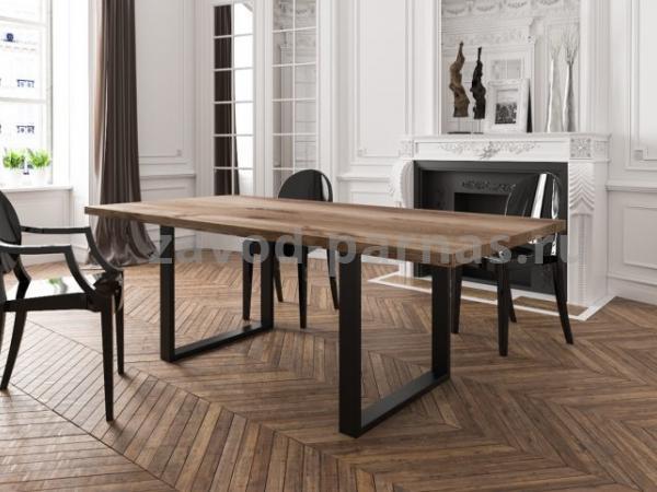 Обеденный столик в лофт стиле металл плюс дерево