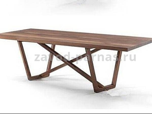 Обеденный стол в стиле лофт металл плюс дерево