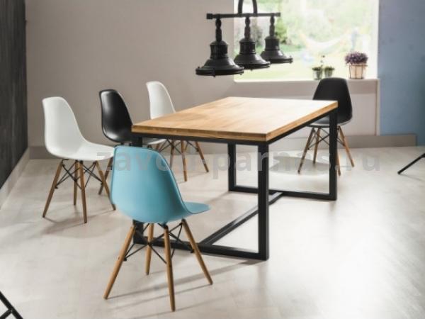 Обеденный стол в лофт стиле из металла и дерева