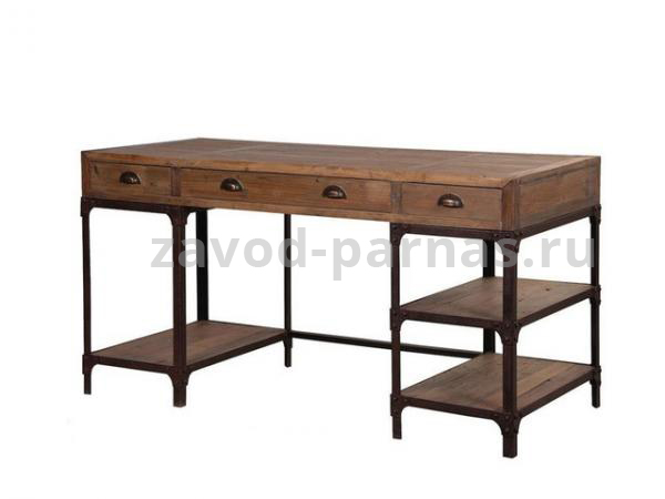 Письменный столик лофт дерево и металл