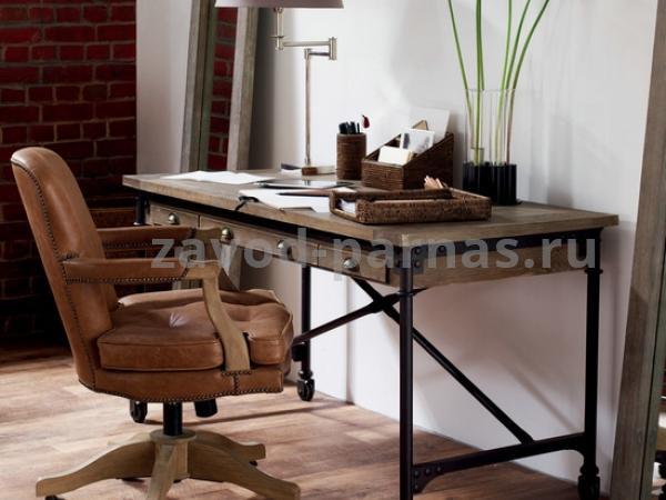 Письменный столик лофт металлический с деревом