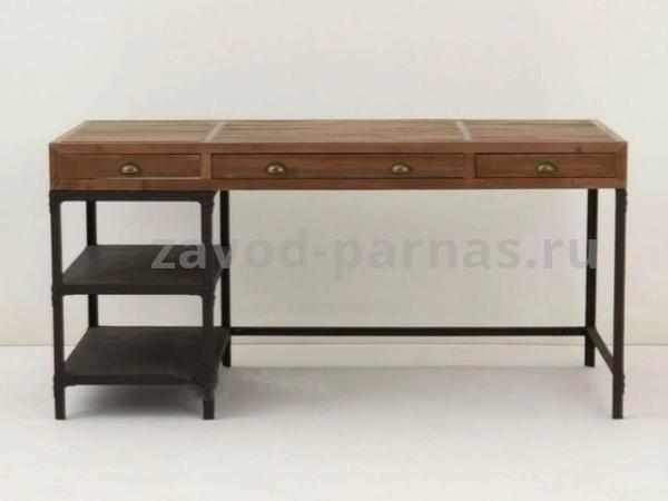 Письменный стол лофт из металла и дерева