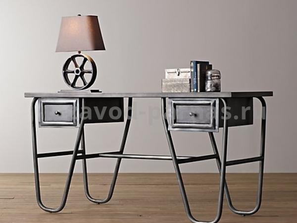 Письменный столик лофт из металла и дерева