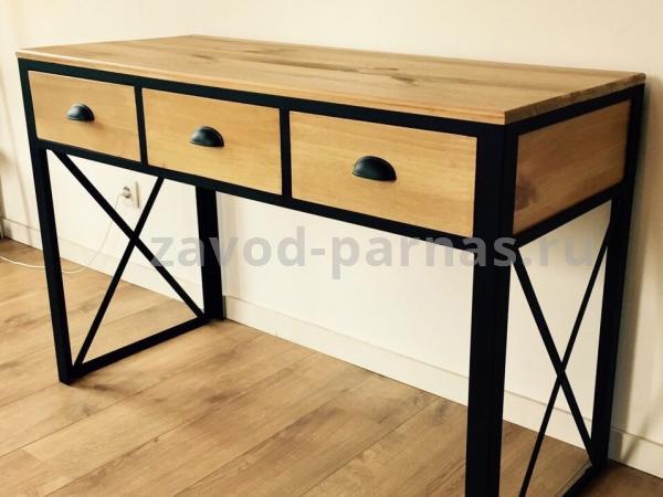 Письменный стол в лофт стиле из металла и дерева