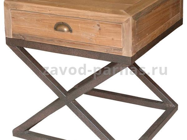 Тумбочка в лофт стиле из дерева и металла